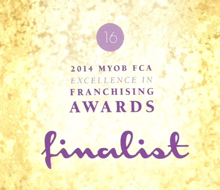 2014 MYOB Excellence in franchising finalist